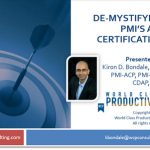 Free webinar on September 6: De-mystifying PMI's Agile Certified Practitioner (ACP) designation